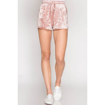 Crushed Velvet Shorts