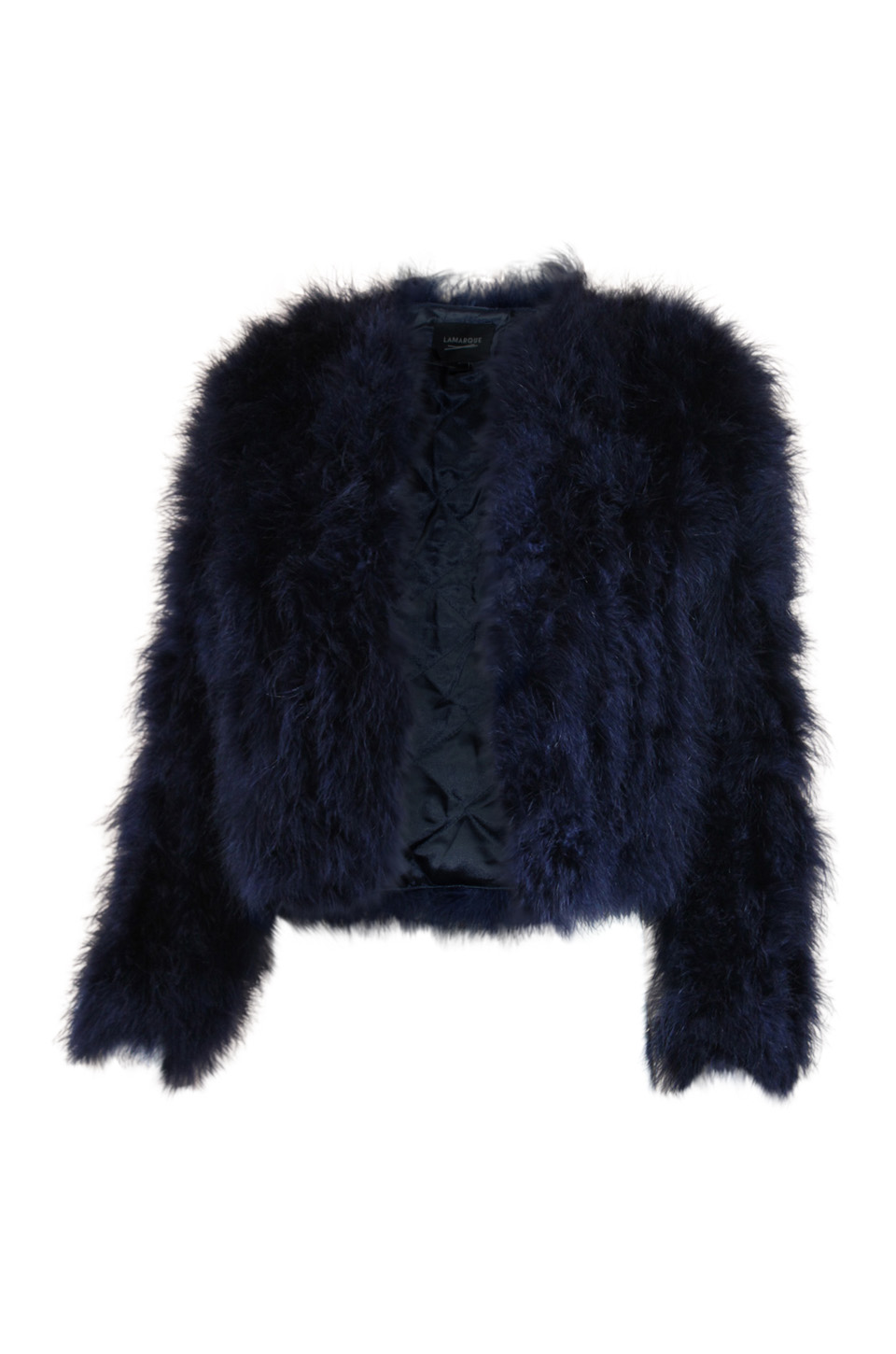 Deora Feather Jacket In Navy
