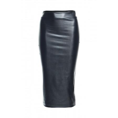 Faux Leather High Waist Skirt