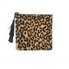 Jen pouch Leopard Hair calf Leather