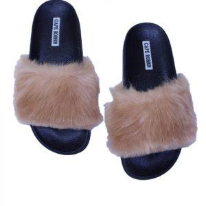 Moira Faux Fur Slides