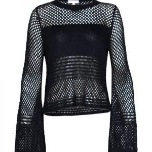 Navy Muli Net sweater
