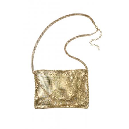 Kiss me a midnight bag in gold by Ettika