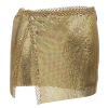 Out of my way belt skirt in gold in Ettika