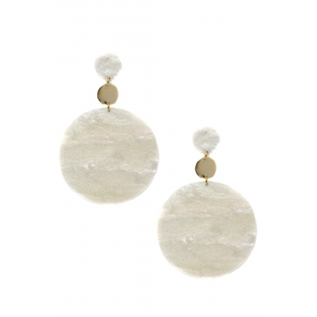 The New Bohemian Earring in White and Gold by Ettika