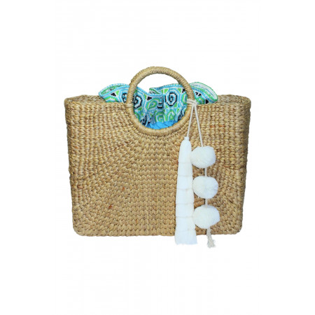 Square Basket White and Blue