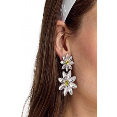 For Love and Lemons Marguerite Crystal Earrings