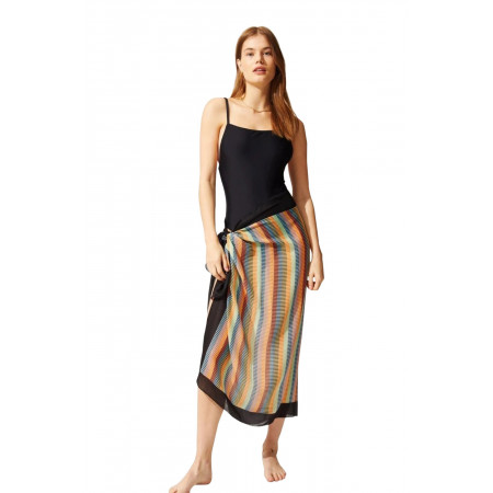Solid and Striped Pareo Technicolor Mosaic