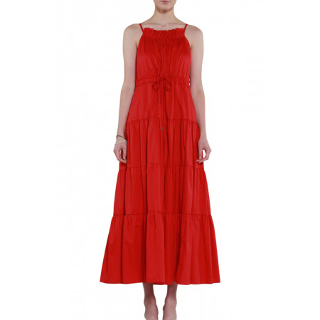 Beulah style Tiered Maxi Dress