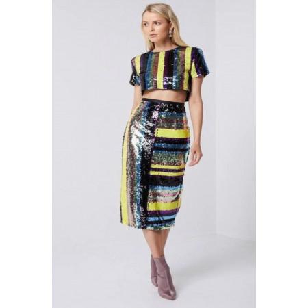 Elliatt Lola Sequin Midi Skirt
