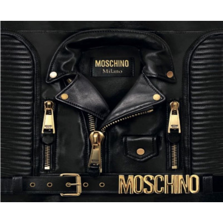 Moschino Biker Silk Scarf