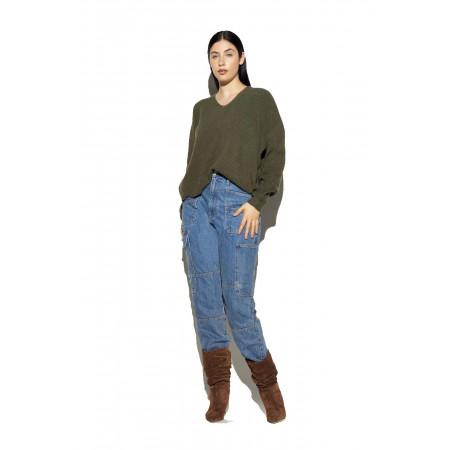 Apparis Army Green Lorelai Sweater