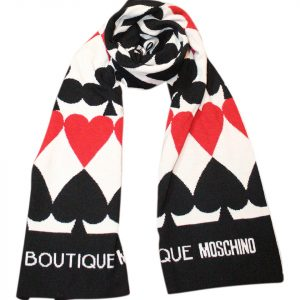 Moschino Ace Of Spades - Queen Of Hearts Scarf