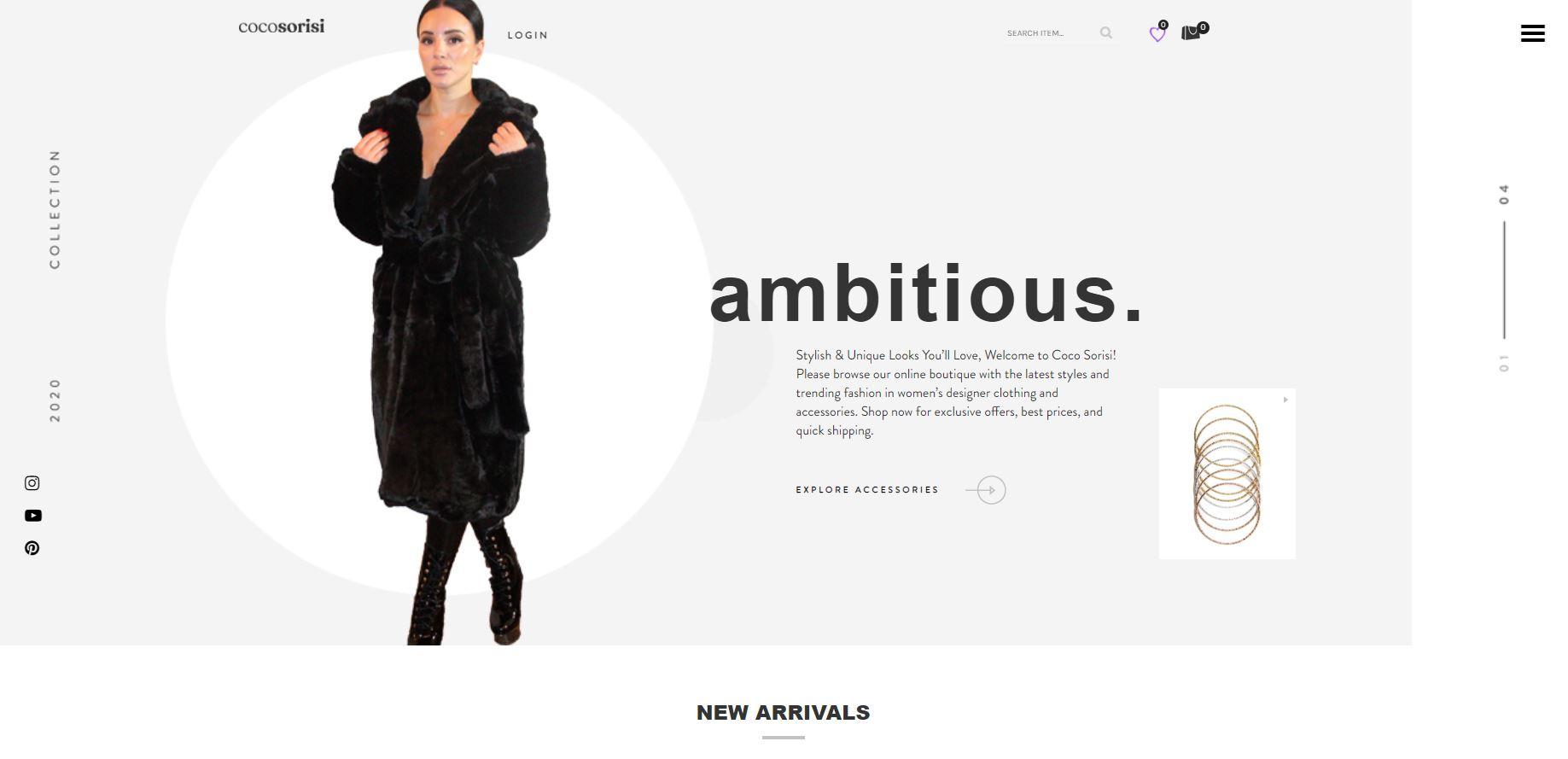Coco Sorisi New Website