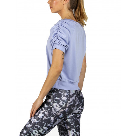 Periwinkle Ruched Tee by Heroine Sport- Side View