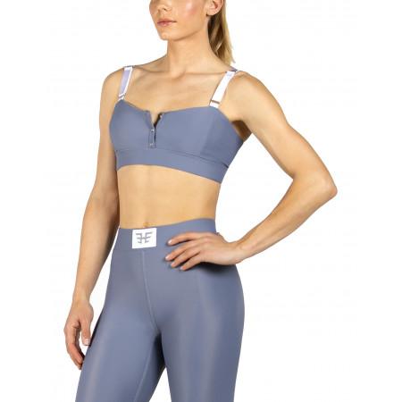 Heroine Sport Boxing Bra in Steel Blue