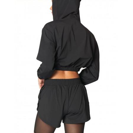 Black Boxing Hoodie by Heroine Sport